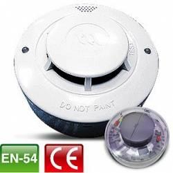 Détecteur de Fumée - optique - avec relai et reset automatique (socle inclu) 4 fils
