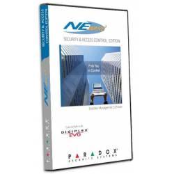 Logiciel de gestion pour centrale EVO bus alarme intrusion et ACM12 accès Paradox NEWACC