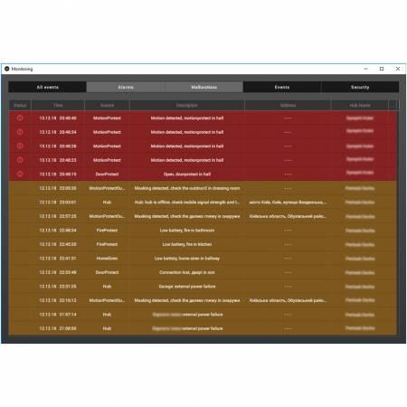 Ajax Pro Desktop logiciel de supervision et télégestion des systèmes AJAX
