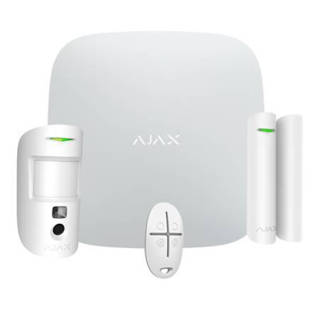 Kit alarme sans fil Ajax Systems Starter Kit Hub 2 - blanc