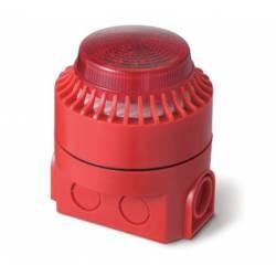 Avertisseur sonore et lumineux - flash - étanche fourni avec sa base 24V - EN54-3