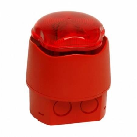 Avertisseur sonore et lumineux - led - étanche IP66 fourni avec sa base profonde 9 à 30V - EN54-3