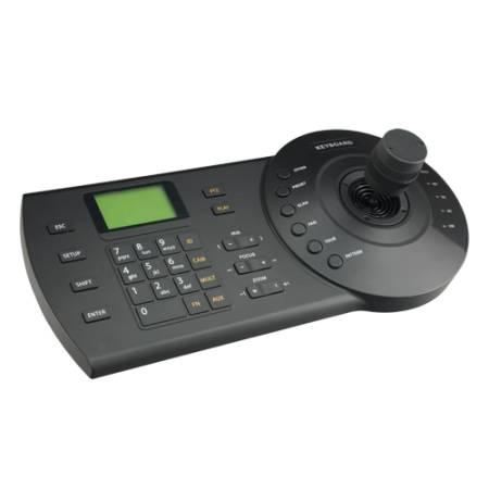 Clavier de télémétrie RS485 et ip RJ45 avec joystick 3D pour caméra PTZ