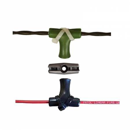 Support en T de fixation et distanceur du LHD avec collier