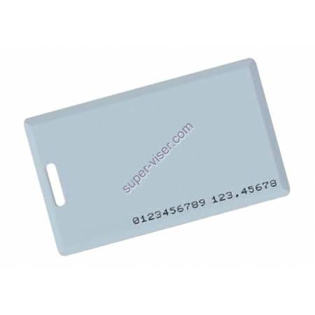 Badge de proximité 125 khz EM TEMIC format carte de crédit avec perforation