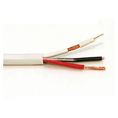 Câble composite micro-coaxial 75ohm et alimentation 2x0.5 vidéosurveillance sans connecteur ML