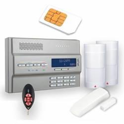 Kit console radio 64 zones transmetteur filaire et GSM GPRS plus trois détecteurs et une télécommande Paradox