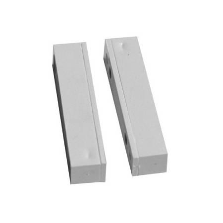 Contact d'ouverture magnétique ABS saillie 50x11x10mm 20mm borniers à vis