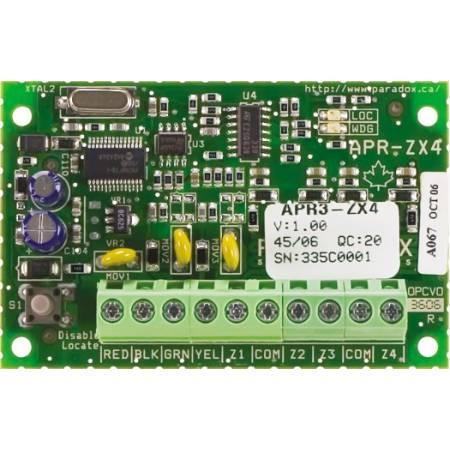 ZX4 module d'extension de 4 zones (8 avec ATZ) pour MG50XX, Evo et Spectra Paradox