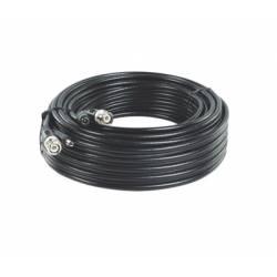 Cordon composite coaxial RG59 et d'alimentation 12VDC de 10m avec connecteurs