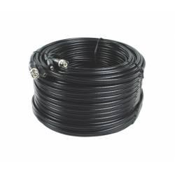 Cordon composite coaxial RG59 et alimentation 12VDC de 40m avec connecteurs