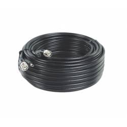 Cordon composite coaxial RG59 et alimentation 12VDC de 30m avec connecteurs
