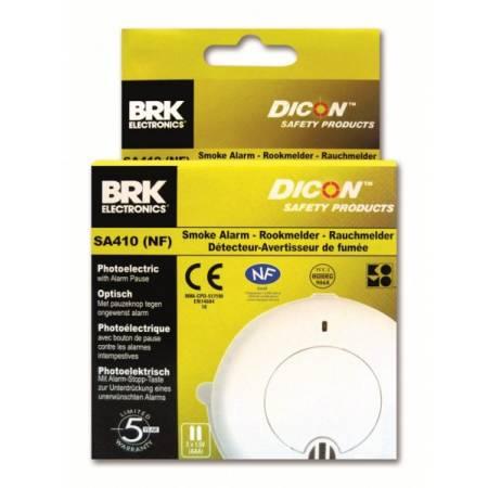 Détecteur autonome avertisseur de fumée DAAF BRK DICON SA410 NF292