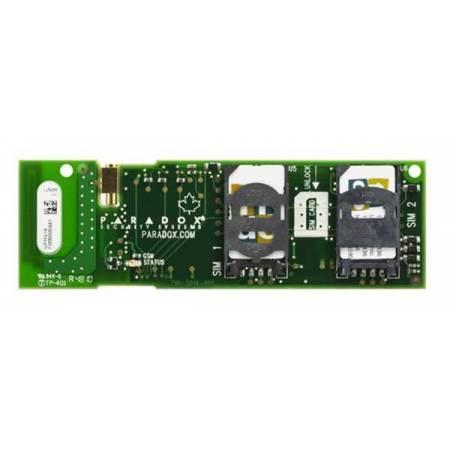 Module pour deux cartes SIMs GSM et GPRS pour centrale MG6250 Paradox réf-GPRS14