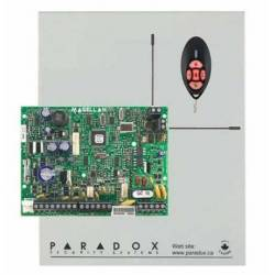 Centrale mixte équipée 2 zones filaires (4 ATZ) et 32 radio en coffret avec transformateur et télécommande
