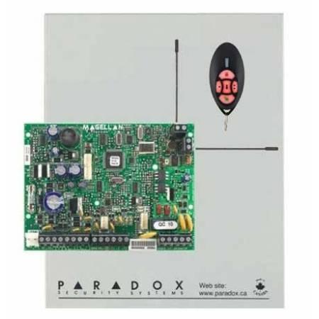 Centrale mixte 32 zones radio et filaires équipée 4 zones filaires (ATZ) dans boitier d'alimentation chargeur avec télécommande