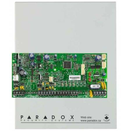 Centrale 5 zones (10 avec ATZ) extensible à 32 zones en coffret Paradox réf-SP5500
