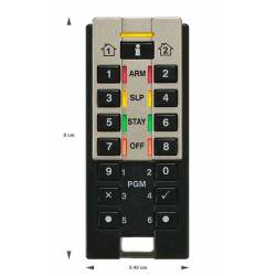 Télécommande clavier radio pour MG-SP-RTX3 fonctions diagnostics Paradox REM3