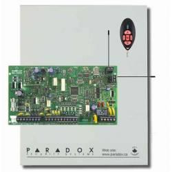 Centrale mixte équipée 5 zones filaires (10 ATZ) et 32 radio en coffret avec transformateur et télécommande