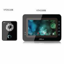 DAHUA-59 (réf. Fabricant VTH1500B et VT05110B) Kit vidéophone avec platine de rue et moniteur LCD 7 pouces