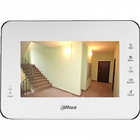 DAHUA-556 (réf. Fabricant VTH1560BW) Moniteur IP vidéophone 7 pouces blanc avec slot micro-SD