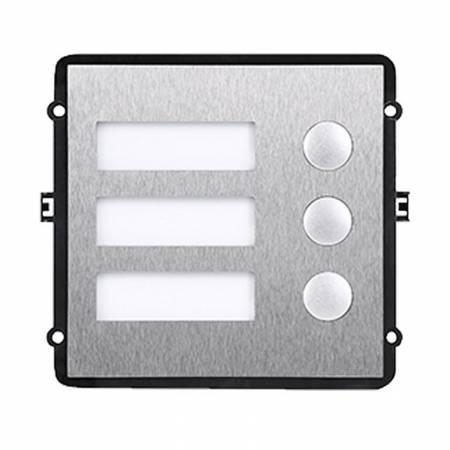 DAHUA-450 (réf. Fabricant VTO2000A-B) Module de 3 boutons et portes noms étanche pour platine de rue DAHUA-495