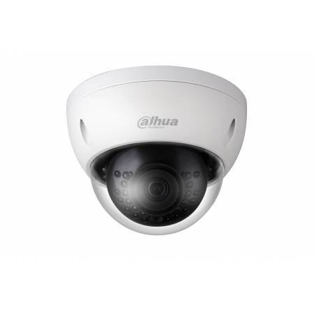 Mini Dome IP Caméra 4 Mp H265 WDR IR 30m anti-vandale Micro SD Dahua