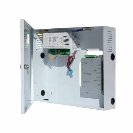 Contrôleur d'accès 2 lecteurs TCP/IP en coffret d'alimentation chargeur 220 Vac