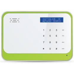Transmetteur hybride filaire GSM SMS clavier LCD 4 entrées / sorties contrôlées par clavier ou SMS