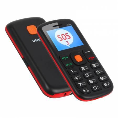 Téléphone mobile GSM avec grosses touches et bouton SOS pour sénior et enfant