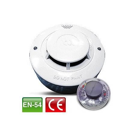 Détecteur de Fumée - optique - avec relai et reset automatique (socle inclu) 4 fils 24Vcc