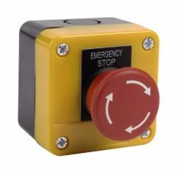 Bouton d'arrêt d'urgence BAU 2 contacteurs NO et NF - CE -