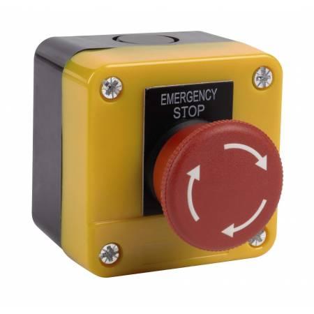 Bouton d'arrêt d'urgence coup de poing étanche avec deuc contacts NO et NF