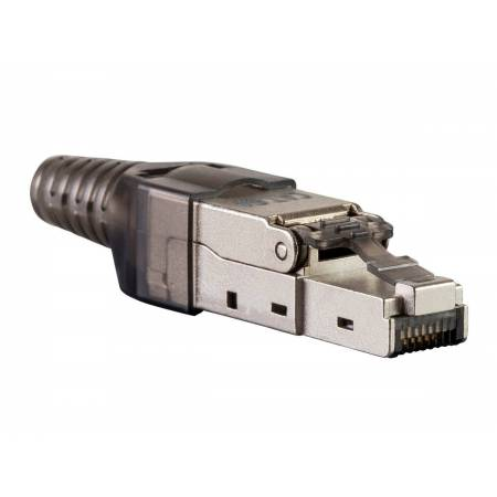 RJ45 connecteur terrain 8P8C sans outil avec manchon catégorie 6A/UTP-FTP-STP 10gb