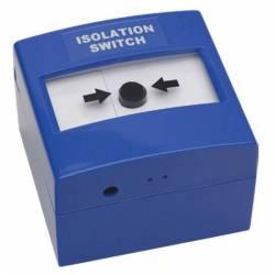 Déclencheur manuel bleu à membrane réarmable avec clapet-volet de protection double action