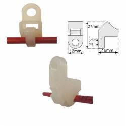 Pack de 10 clips de support et fixation en nylon pour LHD