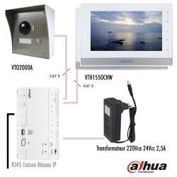 """Kit vidéophone IP Dahua RJ45 avec 2 moniteurs 7"""""""