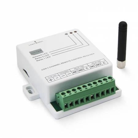 Télécommande GSM à double relais pour commande d'automatisme, barrière, portail ou portillon